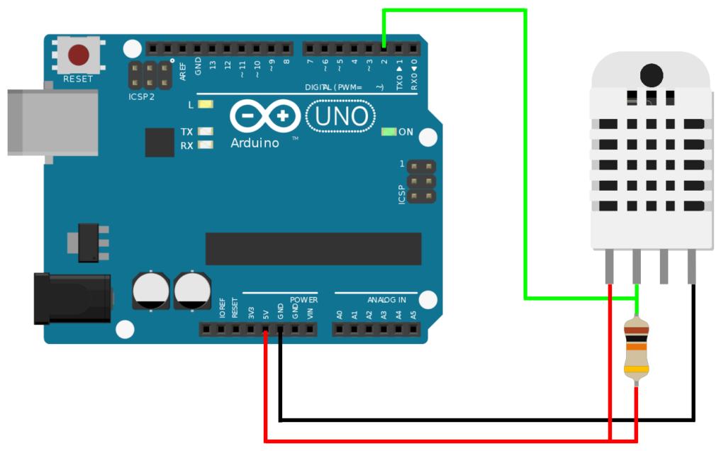 Arduino DHT11 / DHT22 Verbindungsaufbau