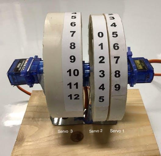 Servomotor Uhr