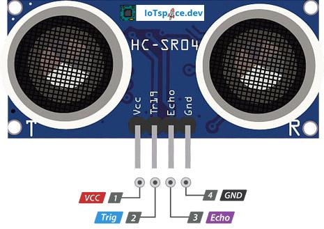 HC-SR04 Ultraschallsensor Pinout