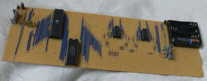 Raspberry Pi Vorgänger: Prototyp basierend auf einem Amtel Prozessor