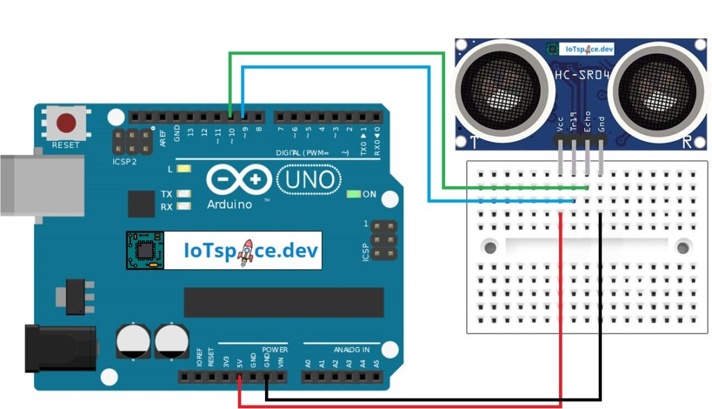 Arduino HC-SR04 Schaltplan
