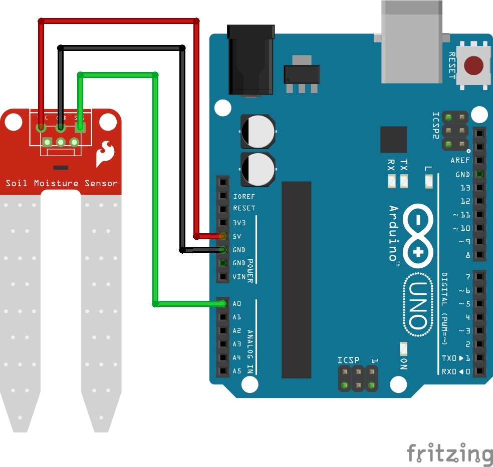 Klassischer Arduino Bodenfeuchtesensor