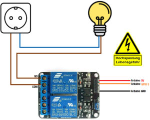 Relais Arduino Verbraucher anschließen