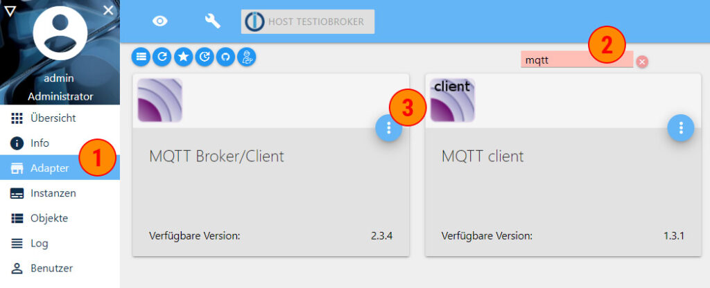 ioBroker MQTT aktivieren