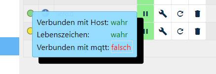 MQTT Status Fehler ioBroker