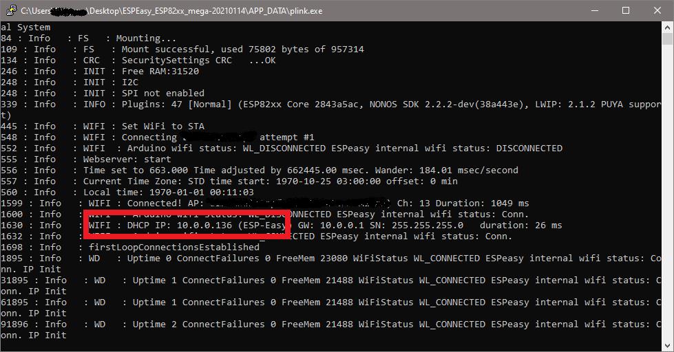 ESP Easy - IP Adresse herausfinden
