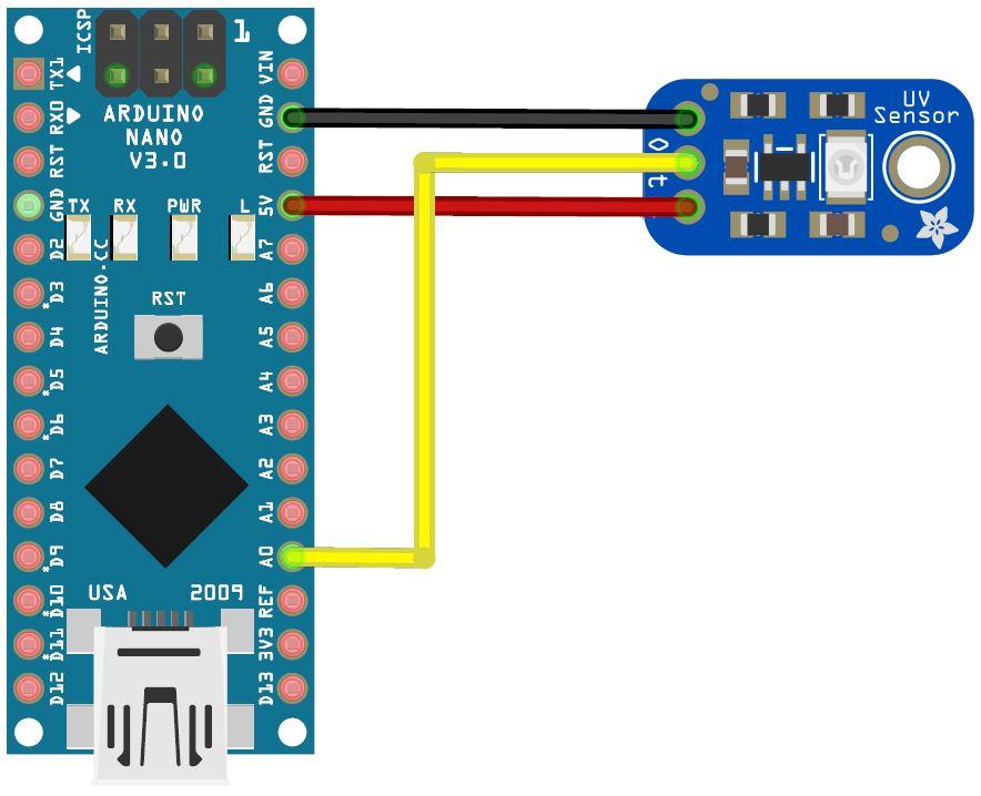 Arduino Nano und UVM30 UV-Sensor