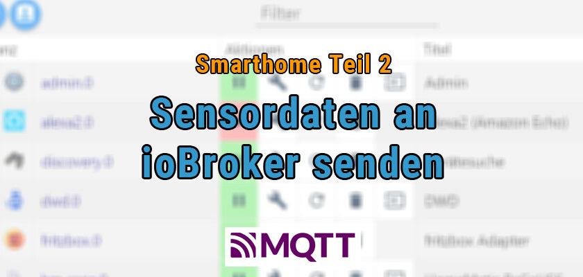 BME280 Sensordaten mit MQTT an ioBroker senden