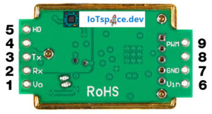 Arduino CO2 Sensor - MH-Z19 Pinout